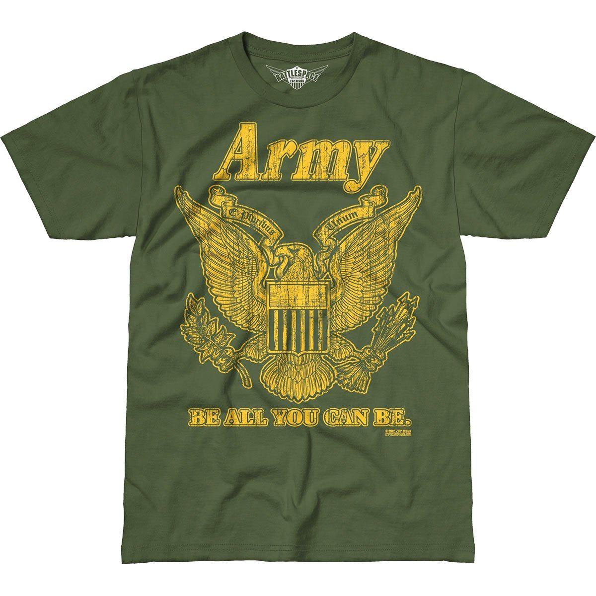 762 Design Army Retro Battlespace T Shirt Military Green
