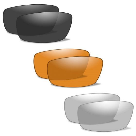 Wiley X XL-1 Advanced - Smoke Gray + Clear + Light Rust Lens / Matte Black