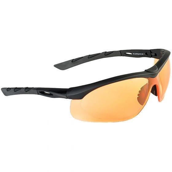 Swiss Eye Lancer Sunglasses - Orange Lens / Black Rubber Frame