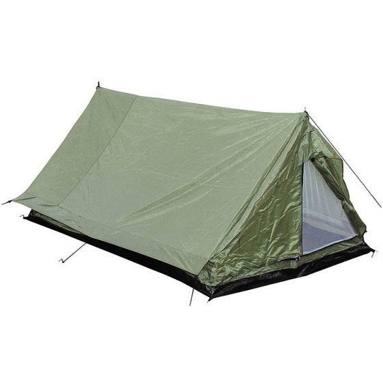 MFH 2 Person Tent Minipack with Mosquito Net OD Green