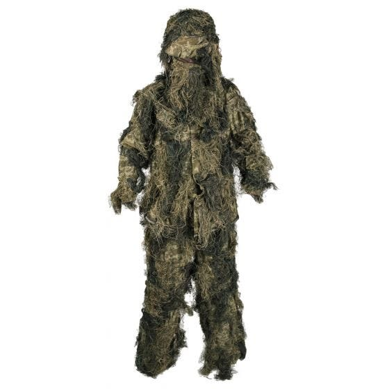 Mil-Tec Ghillie Suit Anti-Fire Basic Woodland