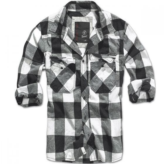 Brandit Check Shirt White / Black