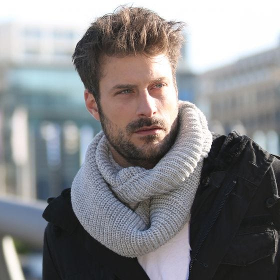 Brandit Scarf Loop Knitted Chocolate