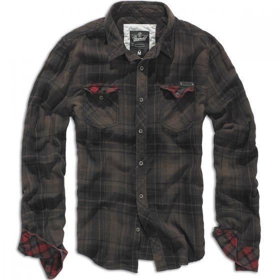 Brandit Checkshirt Duncan Brown / Black