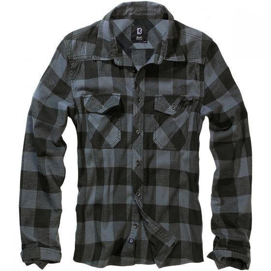 Brandit Check Shirt Black / Gray