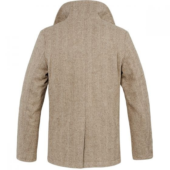 Brandit Pea Coat Beige Herringbone
