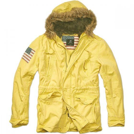 Brandit Vintage Explorer Stars & Stripes Jacket Yellow