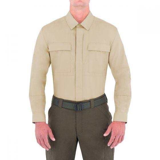 First Tactical Men's Specialist Long Sleeve BDU Shirt Khaki