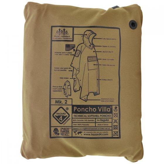 Hazard 4 Poncho Villa Technical Soft Shell Coyote