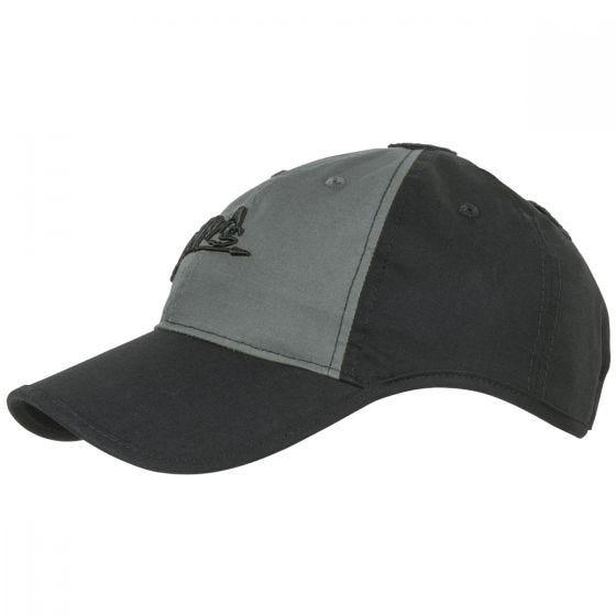Helikon Logo Cap Polycotton Ripstop Black / Shadow Gray