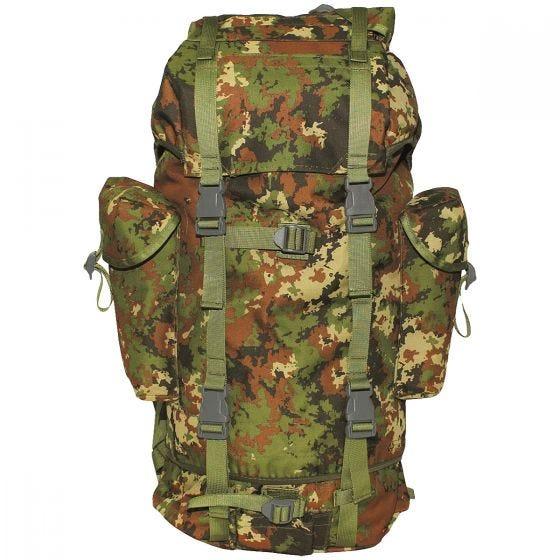 MFH German Army Rucksack 65L Vegetato Woodland