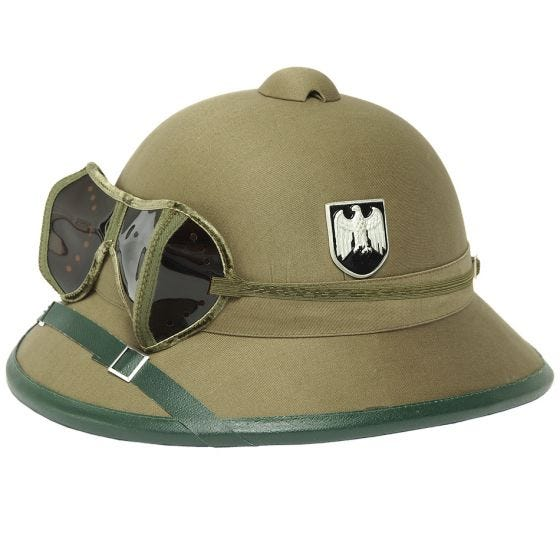 Mil-Tec Wehrmacht Tropical Helmet with Goggles