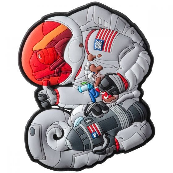 Patchlab Chameleon Apollo Armstrong Patch Gray