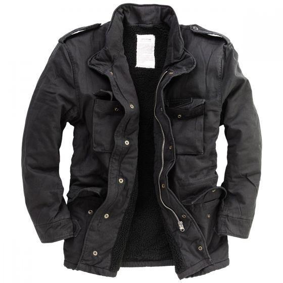 Surplus Paratrooper Winter Jacket Black Washed