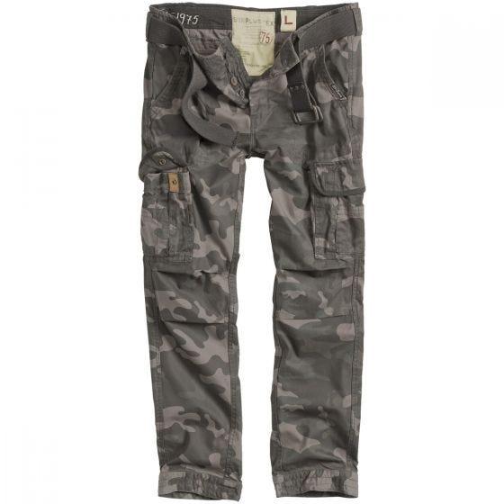 Surplus Premium Slimmy Trousers Black Camo