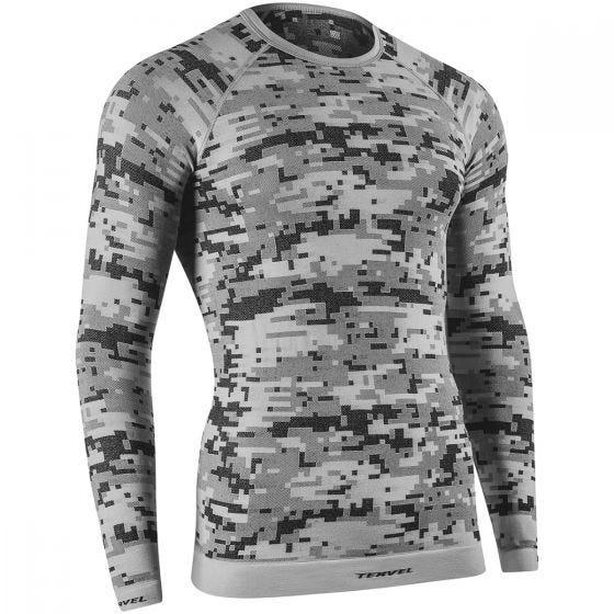Tervel Optiline Digital Shirt Long Sleeve Silver / Gray