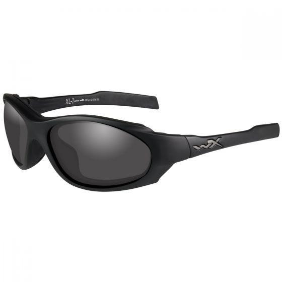 Wiley X XL-1 Advanced COMM Glasses - Smoke Gray + Clear + Light Rust Lens / Matte Black Frame