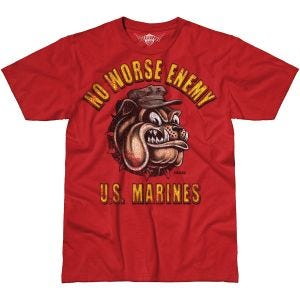 7.62 Design USMC No Worse Enemy Battlespace T-Shirt Scarlet Heather