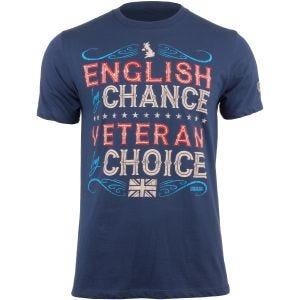 7.62 Design Veteran By Choice English T-Shirt Indigo Blue