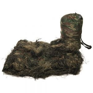 Mil-Tec Ghillie Cover 'Anti Fire' 300x200cm Woodland