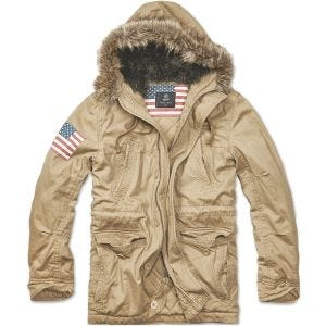 Brandit Vintage Explorer Stars & Stripes Jacket Camel