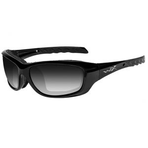Wiley X WX Gravity Glasses - Light Adjusting Smoke Gray Lens / Gloss Black Frame