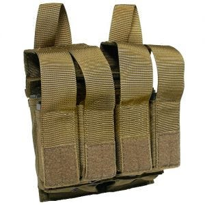 Flyye Double M4/M16 + Quad Pistol Magazine Pouch MOLLE Coyote Brown