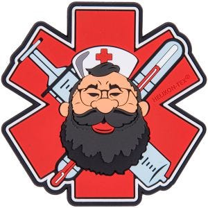 Helikon Beardman Medic Patch Red