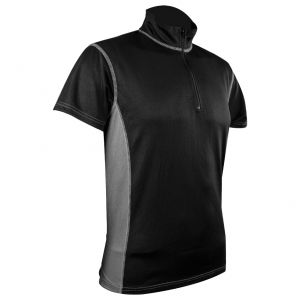 Highlander Men's Pro Tech Zip Neck Top Black / Gray