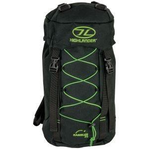 Highlander Rambler 20L Backpack Black/Lime Green