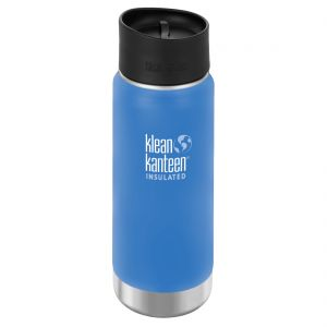 Klean Kanteen Wide Mouth Insulated 473ml Bottle Cafe Cap 2.0 Pacific Sky
