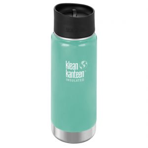 Klean Kanteen Wide Mouth Insulated 473ml Bottle Cafe Cap 2.0 Sea Crest