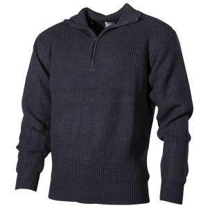 MFH Navy Sweater Acrylic Navy Blue