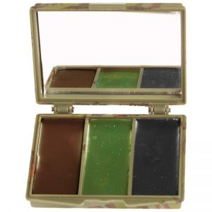 Mil-Tec Camo Face Paint 3 Colors with Mirror Woodland