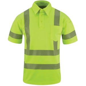 Propper I.C.E. ANSI III Men's Performance Polo Short Sleeve Hi-Viz Yellow