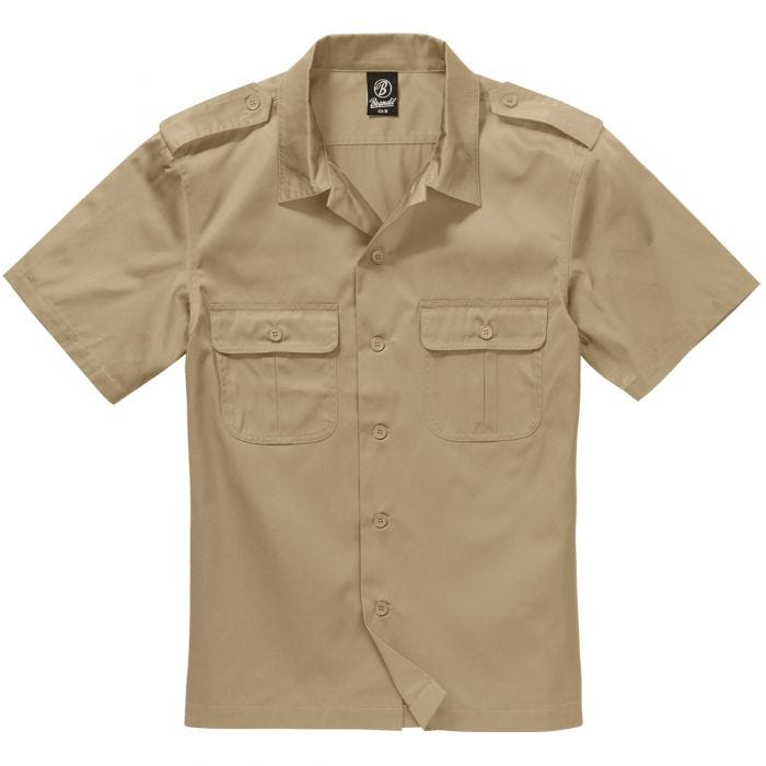 Brandit US Shirt Short Sleeve Beige