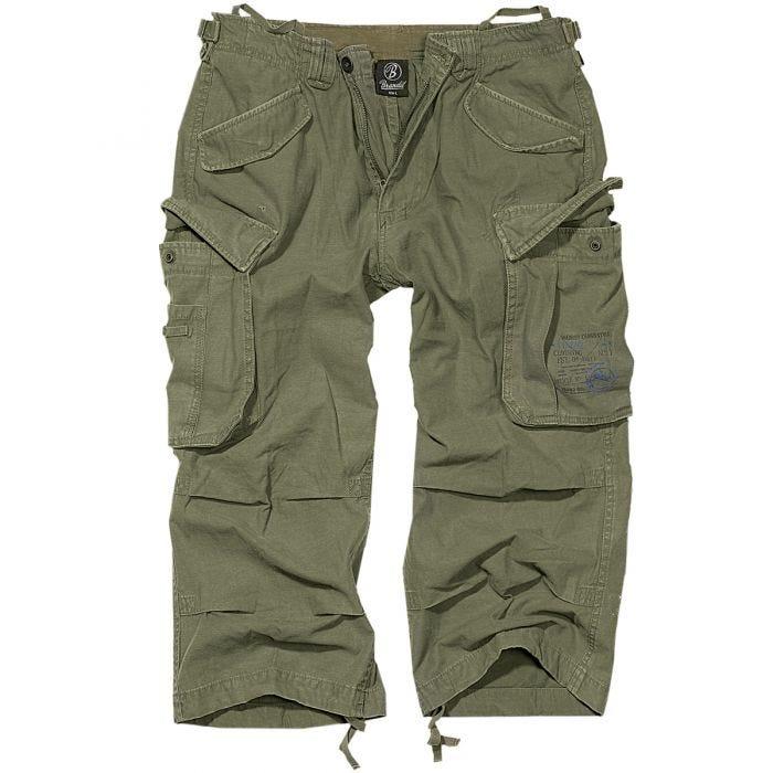 Brandit Industry Vintage 3/4 Shorts Olive