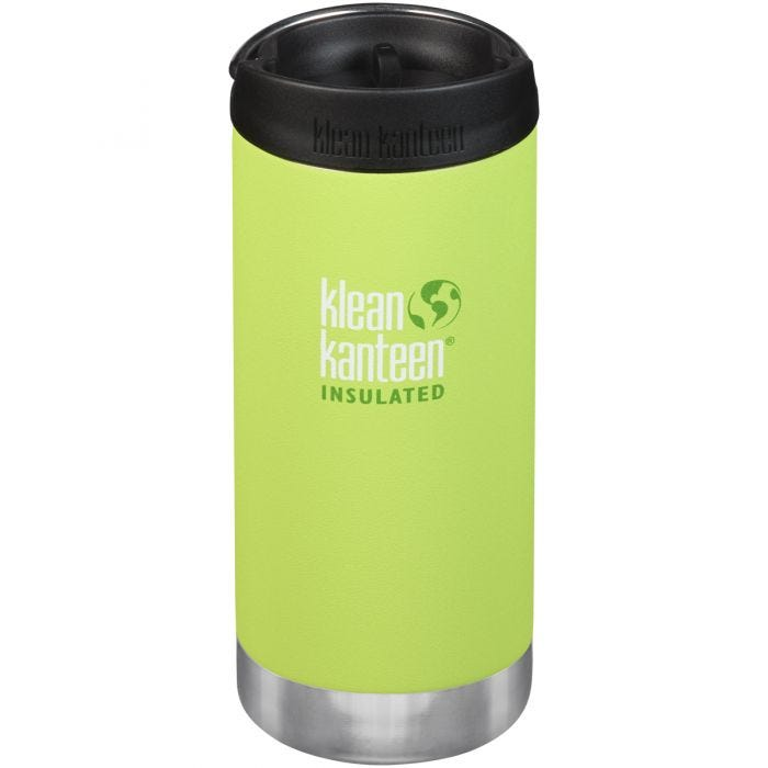 Klean Kanteen TKWide 355ml Insulated Bottle Cafe Cap 2.0 Juicy Pear
