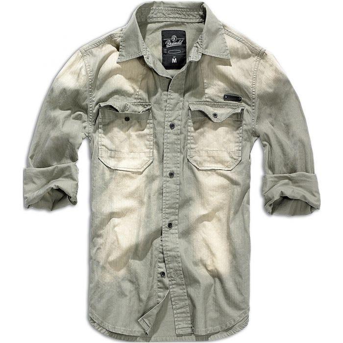 Brandit Hardee Denim Shirt Gray