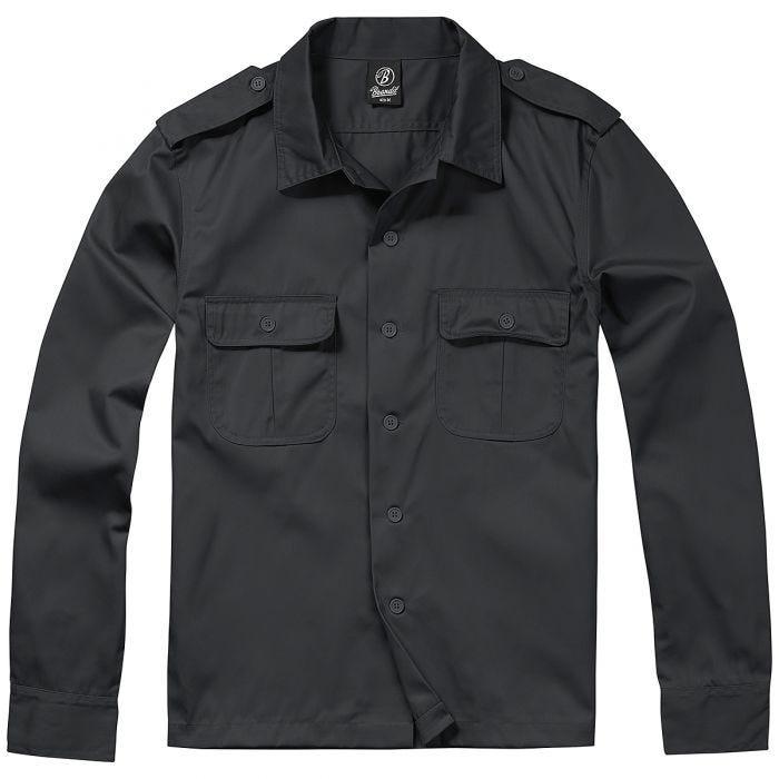 Brandit US Shirt Long Sleeve Black