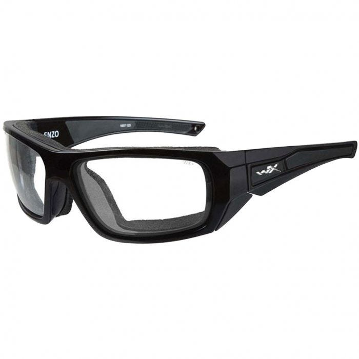 Wiley X WX Enzo Glasses - Clear Lens / Gloss Black Frame