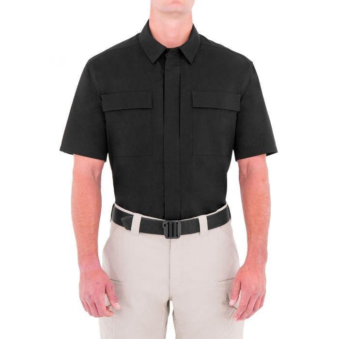 First Tactical Men's Specialist Short Sleeve BDU Shirt Black