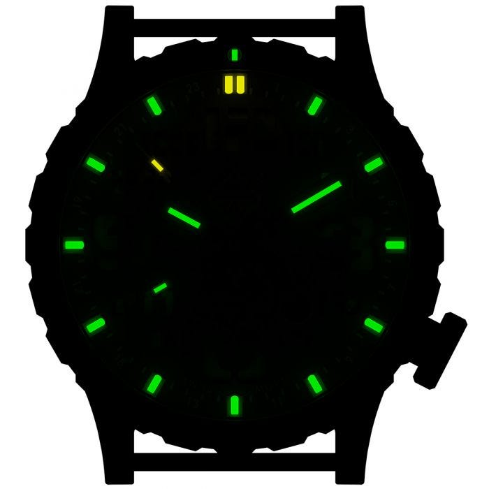 Hazard 4 Heavy Water Diver Titanium Tritium Watch Nightwatch Green/Yellow