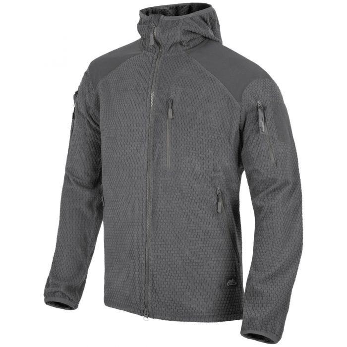 Helikon Alpha Hoodie Jacket Grid Fleece Shadow Gray
