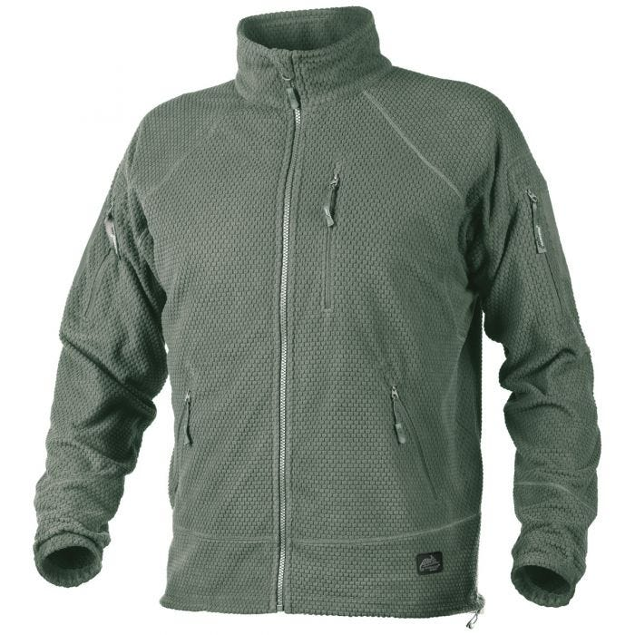 Helikon Alpha Tactical Grid Fleece Jacket Foliage Green