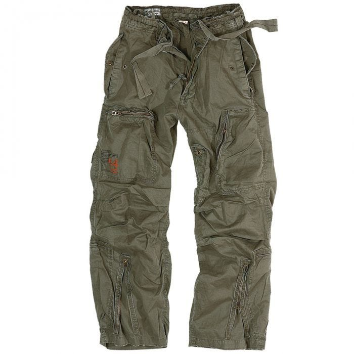 Surplus Infantry Cargo Trousers Olive