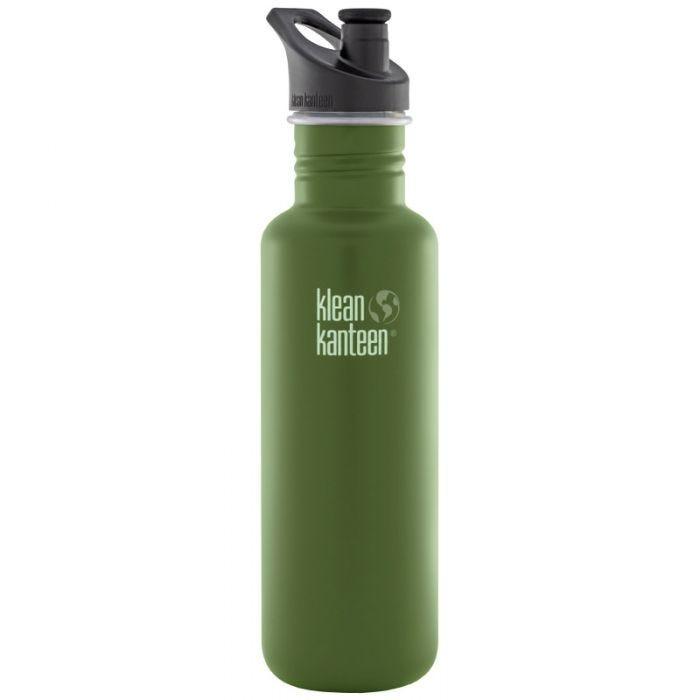 Klean Kanteen Classic 800ml Bottle with Sport Cap 3.0 Green Fatigue