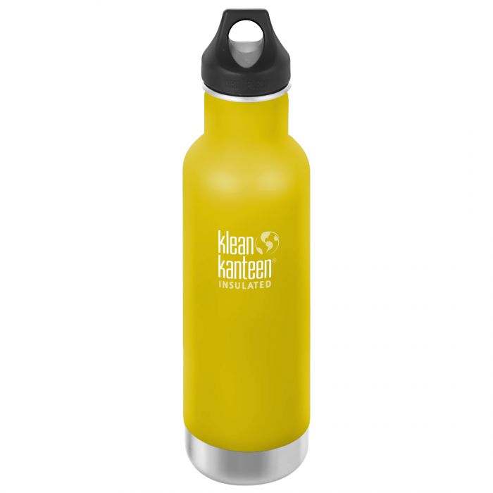 Klean Kanteen 592ml Classic Insulated Bottle Loop Cap Lemon Curry