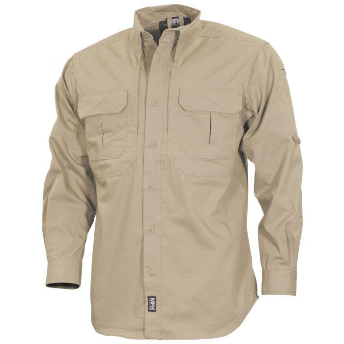 MFH Strike Tactical Shirt Long Sleeve Khaki