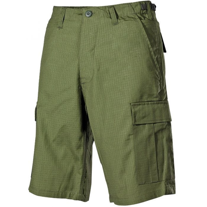MFH US BDU Bermuda Shorts Ripstop OD Green